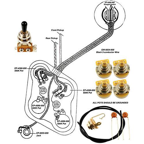 Allparts EP-4148-000 Wiring Kit for Epiphone-thumbnail