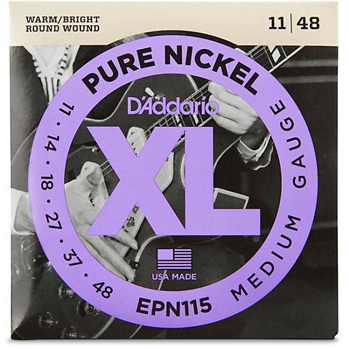 D'Addario EPN115 Pure Nickel Electric Guitar Blues/Jazz Electric Guitar Strings