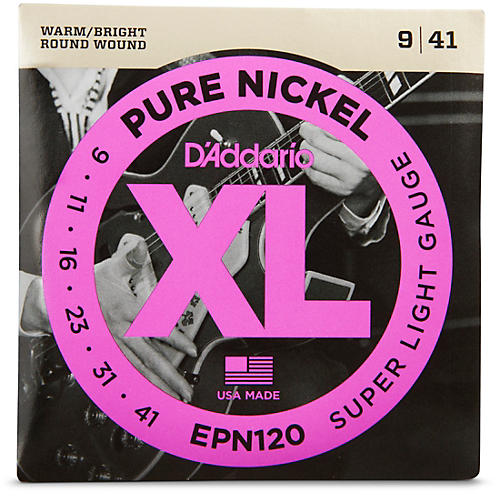 D'Addario EPN120 Pure Nickel Super Light Electric Guitar Strings