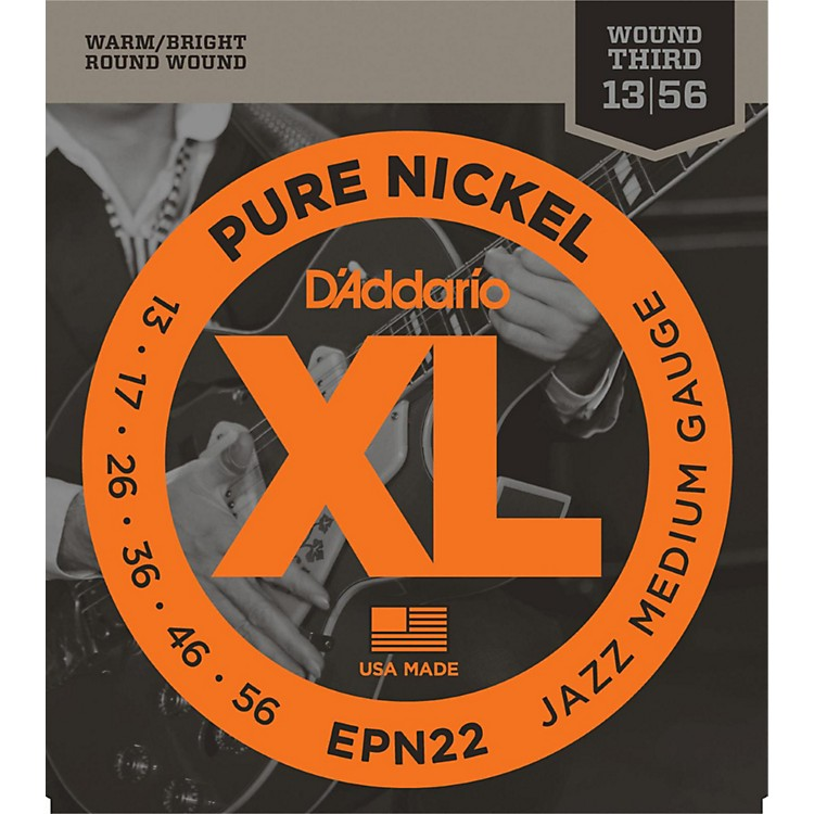 D'Addario EPN22 Pure Nickel Jazz Medium Electric Guitar Strings