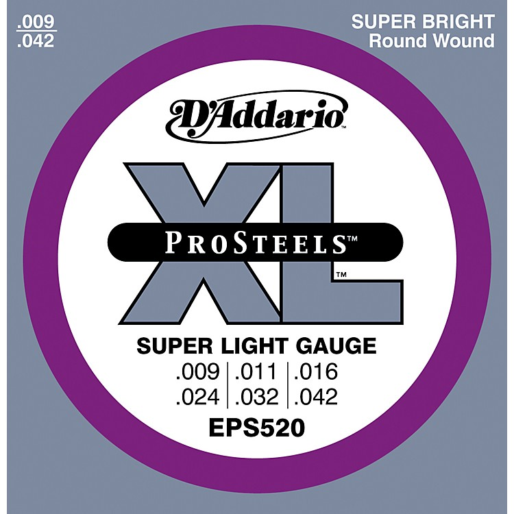 D'AddarioEPS520 ProSteels Super Light Electric Guitar Strings