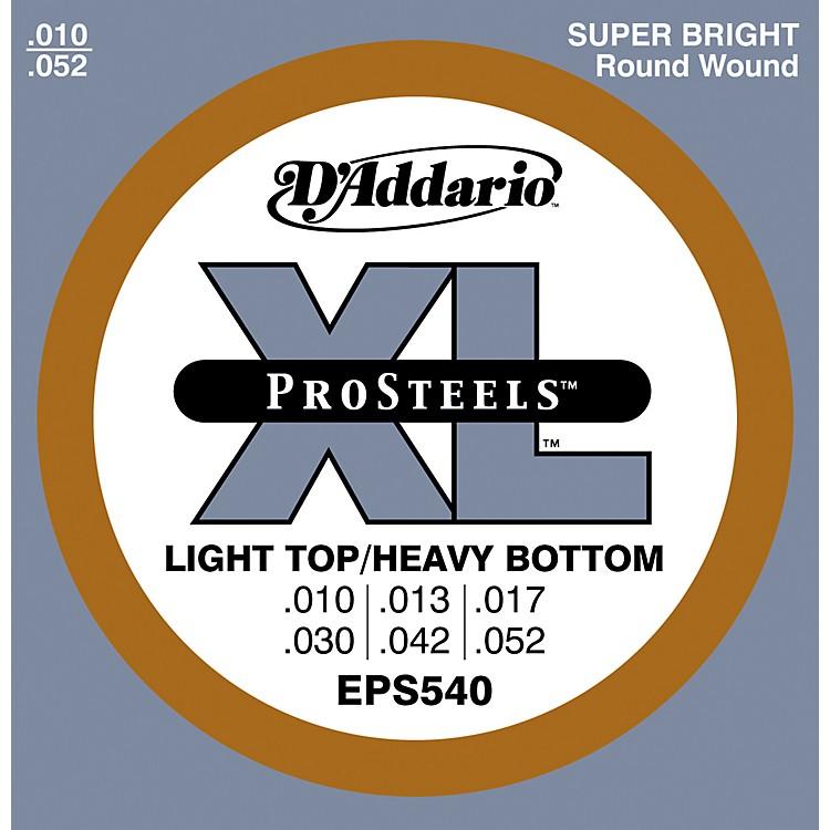 D'AddarioEPS540 ProSteels Light Top/Heavy Bottom Electric Guitar Strings
