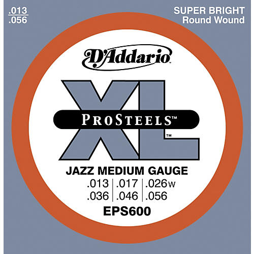 D'Addario EPS600 ProSteels Jazz Medium Electric Guitar Strings-thumbnail