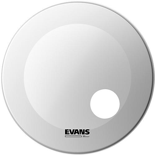 Evans EQ3 Coated White Resonant Bass Drumhead-thumbnail