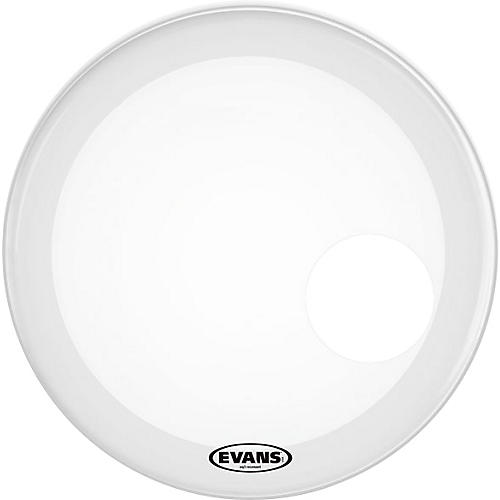 Evans EQ3 Coated White Resonant Bass Drumhead-thumbnail