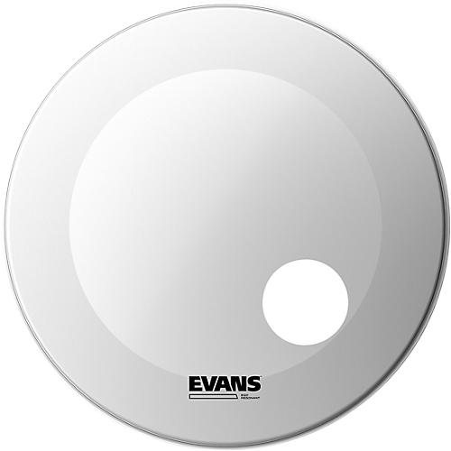 Evans EQ3 Coated White Resonant Bass Drumhead 24 in.