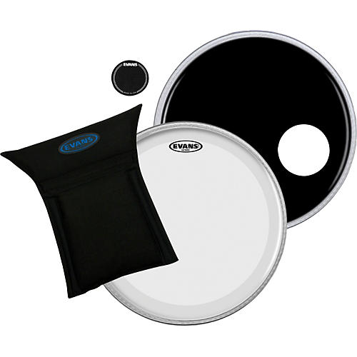 Evans EQ3 System Pack 22 inch Bass Drum Head Set Black