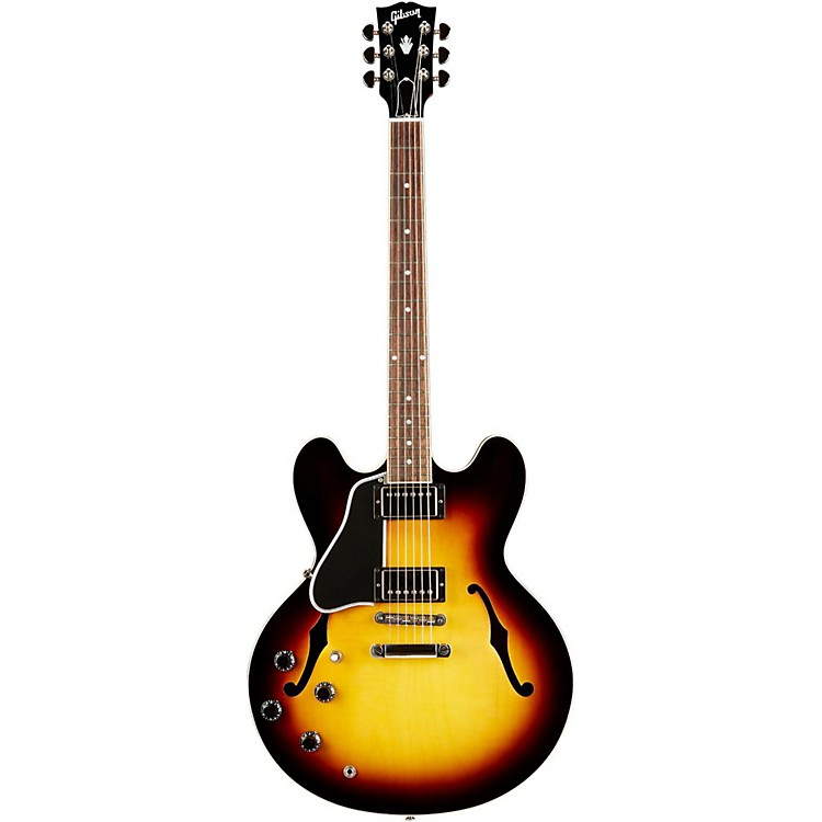 Gibson ES-335 Dot Left-Handed Electric Guitar with Gloss Finish Vintage Sunburst Nickel Hardware
