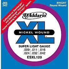 D'Addario ESXL120 Nickel Double Ball End Super Light Electric Guitar Strings