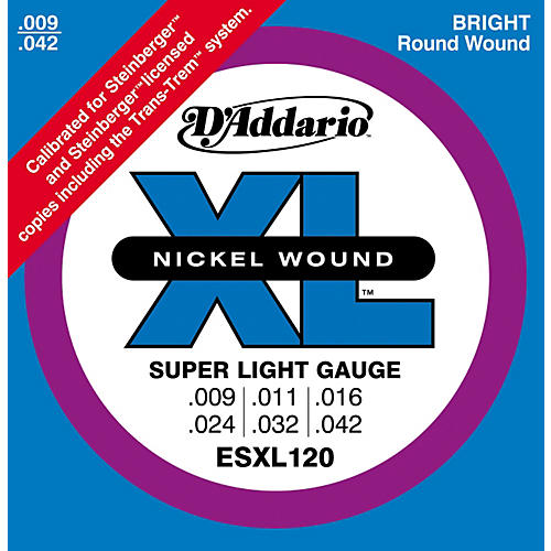d 39 addario esxl120 nickel double ball end super light electric guitar strings musician 39 s friend. Black Bedroom Furniture Sets. Home Design Ideas