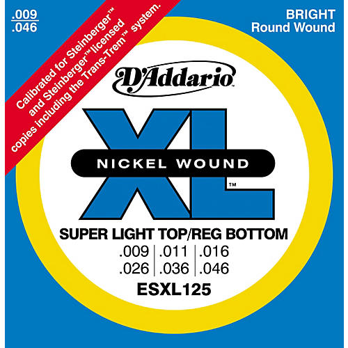 D'Addario ESXL125 Double Ball End Light/Electric Guitar Strings