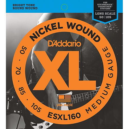 D'Addario ESXL160 Steinberger Double Ball Long Bass Guitar Strings-thumbnail