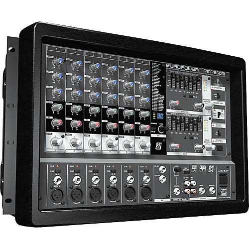 behringer europower pmp860m 800w 8 channel powered mixer musician 39 s friend. Black Bedroom Furniture Sets. Home Design Ideas