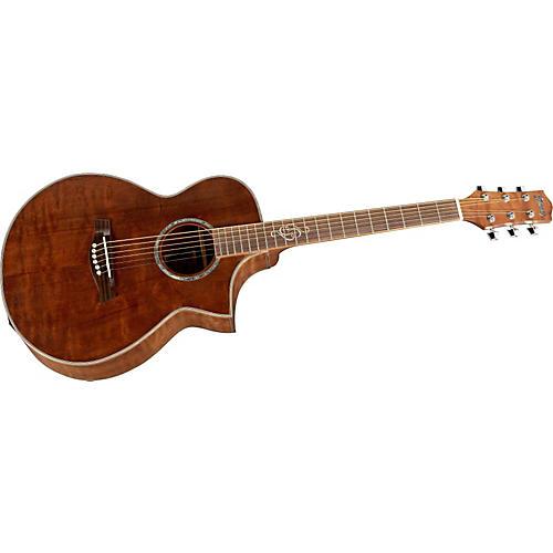 Ibanez EW Series EWC30QHERLG Concert Cutaway Acoustic-Electric Guitar-thumbnail