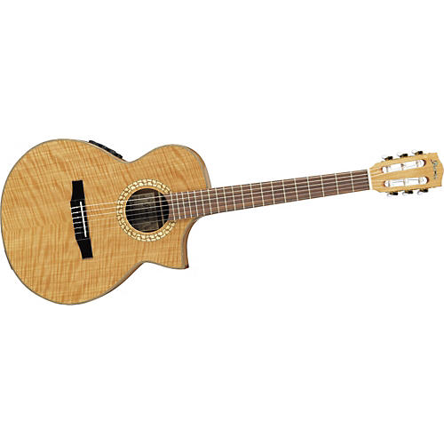 Ibanez EW Series EWN28SYENT Cutaway Nylon String Acoustic-Electric Guitar