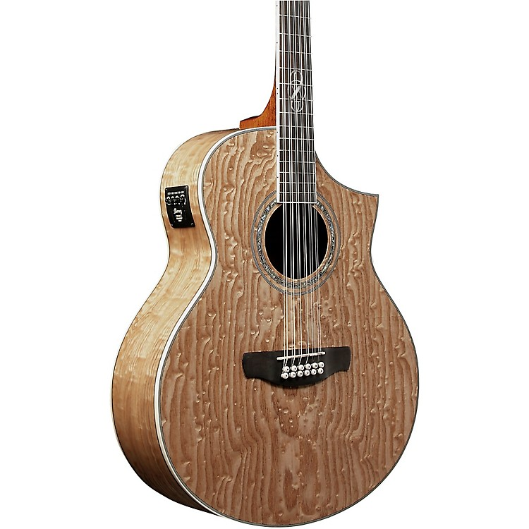 Ibanez EW2012ASENT 12-String Exotic Wood Acoustic-Electric Guitar Natural Gloss