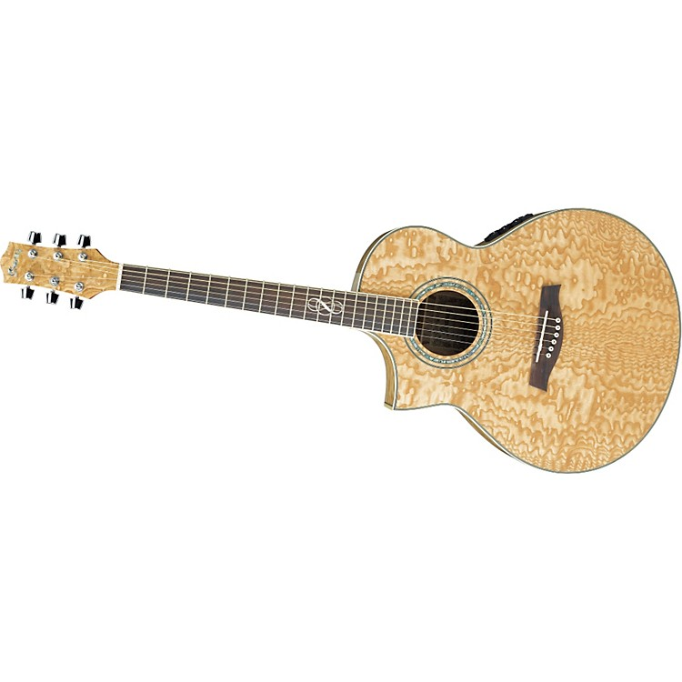 IbanezEW20AS Left-Handed Exotic Wood Acoustic-Electric Guitar
