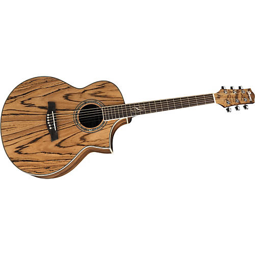 Ibanez EW20ZWE EXOTIC WOOD SERIES Zebrawood Acoustic-Electric Guitar-thumbnail