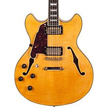 Open BoxD'Angelico Excel Series DC Left-Handed Semi-Hollowbody Electric Guitar with Stopbar Tailpiece