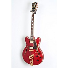 D'Angelico EX-DC Semi-Hollowbody Electric Guitar Level 2 Cherry, Tortoise Pickguard 888366019818