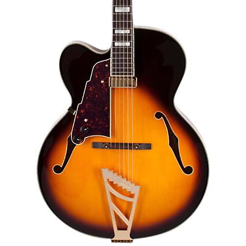 D'Angelico EXL-1  Left-Handed Hollowbody Electric Guitar Sunburst Sunburst