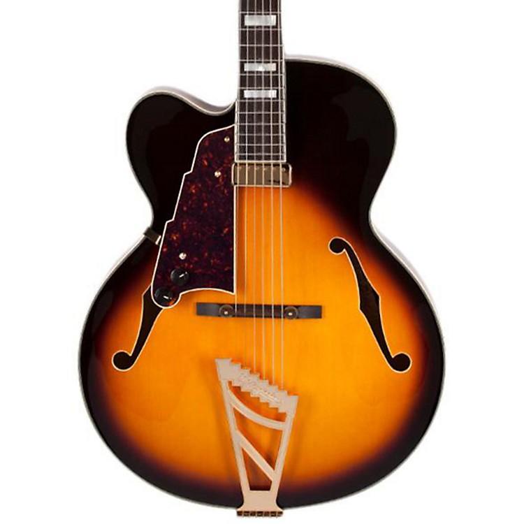 D'AngelicoEXL-1  Left-Handed Hollowbody Electric GuitarSunburst Sunburst