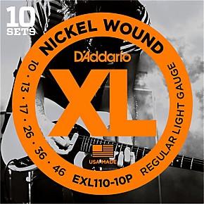 d 39 addario exl110 nickel light electric guitar strings 10 pack musician 39 s friend. Black Bedroom Furniture Sets. Home Design Ideas