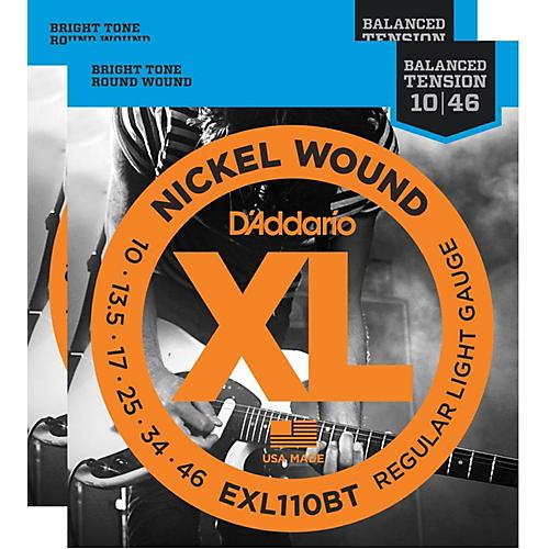 D'Addario EXL110BT Balanced Tension Lite Electric Guitar Strings (2-Pack)