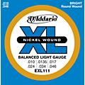 D'Addario EXL111 Balanced Regular Light Guitar Strings  Thumbnail