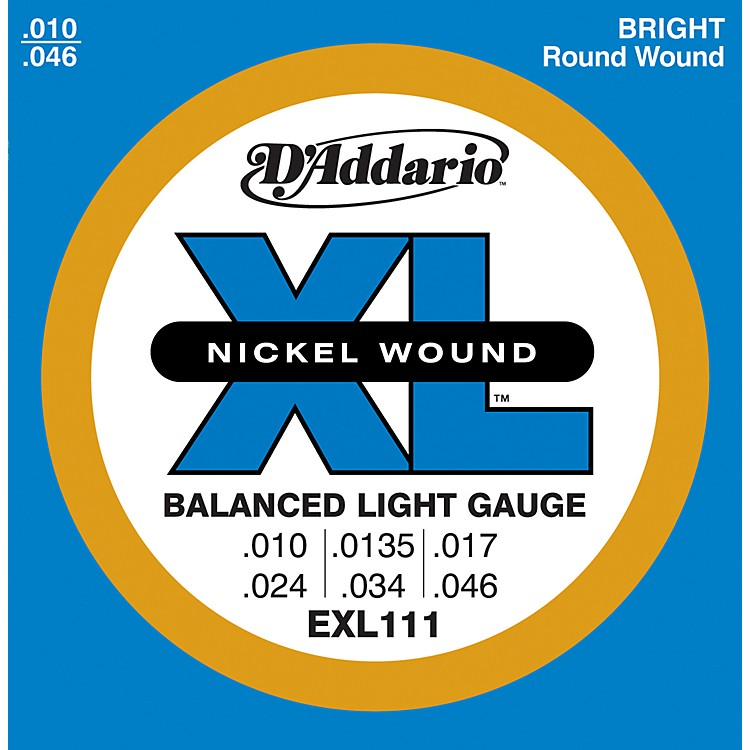 D'Addario EXL111 Balanced Regular Light Guitar Strings
