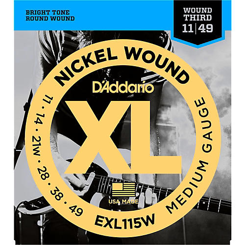 D'Addario EXL115W Nickel Blues/Jazz Wound 3rd Electric Guitar Strings