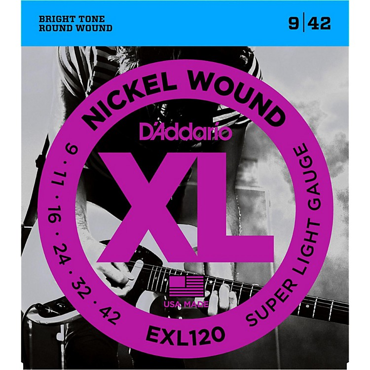 D'Addario EXL120 Nickel Super Light Electric Guitar Strings Single-Pack