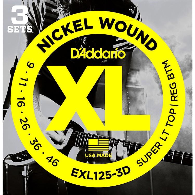 D'AddarioEXL125-3D Electric Guitar Strings 3-Pack