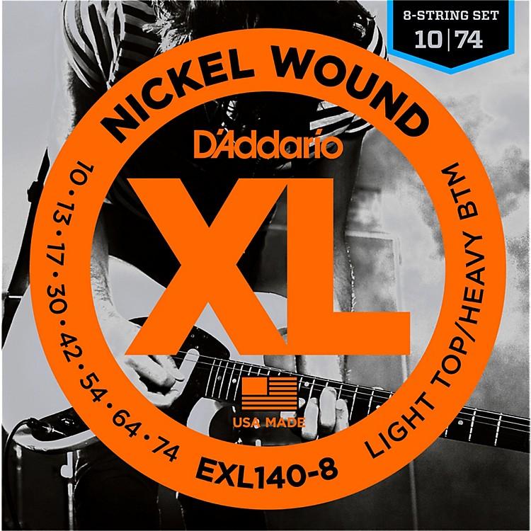 D'AddarioEXL140 Light Top Heavy/Bottom 8-String Electric Guitar Strings