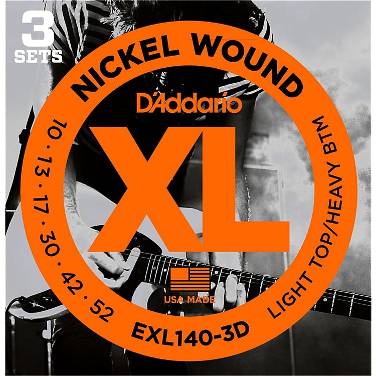 D'AddarioEXL140 Light Top/Heavy Bottom Electric Guitar Strings 3-Pack
