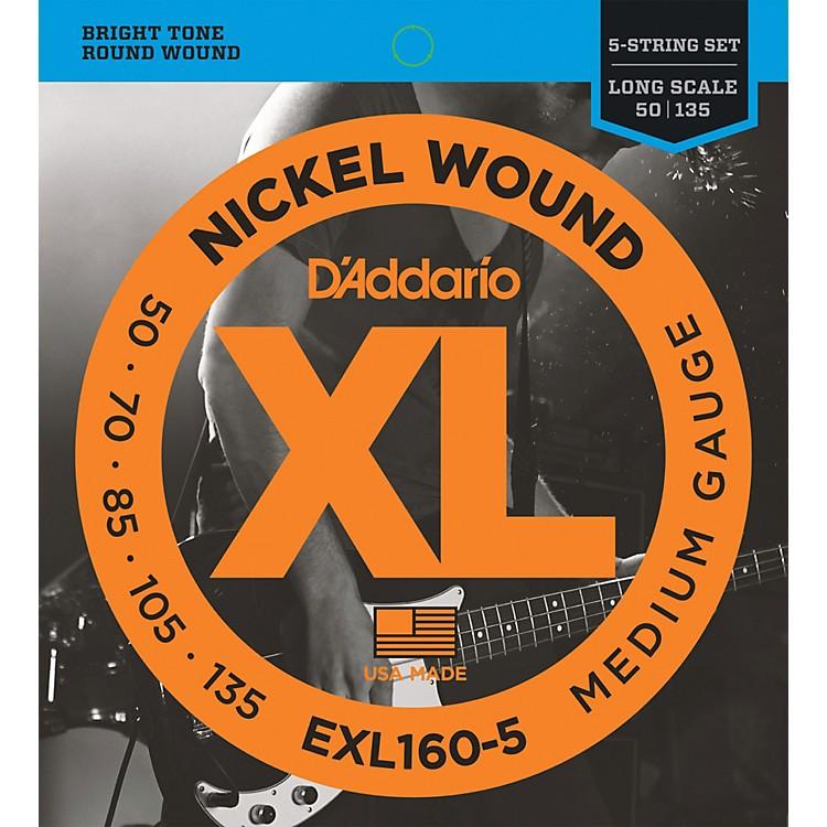 D'AddarioEXL160-5 XL 5-String Bass Regular/Long String Set