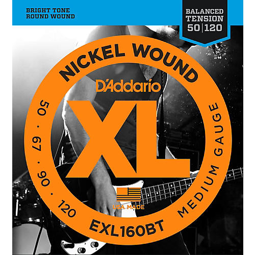 D'Addario EXL160BT Balanced Tension 50-120 Long Scale Electric Bass String Set-thumbnail