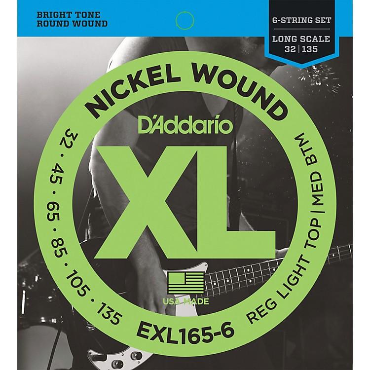 D'AddarioEXL165-6 XL 6-String Bass Soft/Regular String Set