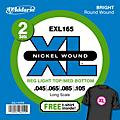 D'Addario EXL165TP Twin-Pack of Bass Guitar Strings with Free T-Shirt thumbnail