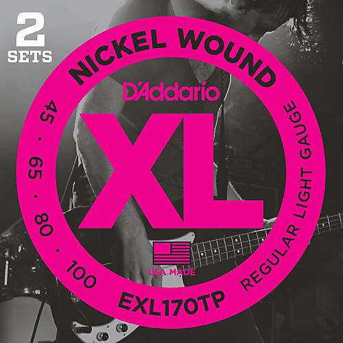 D'Addario EXL170TP Round Wound Bass Guitar Strings 2-Pack-thumbnail