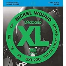 D'Addario EXL220 XL Nickel Round Wound Super Light Bright Electric Bass Strings