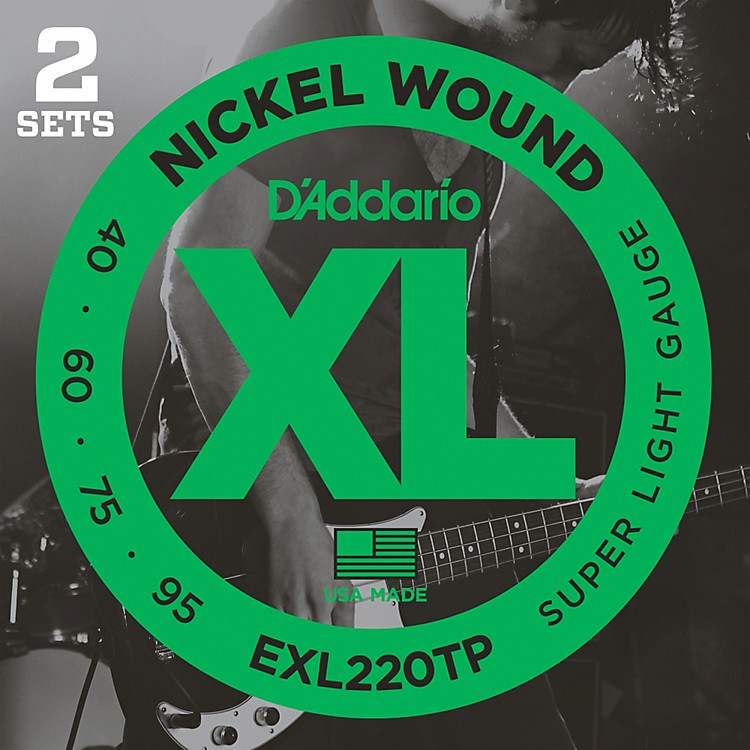 D'Addario EXL220TP Twin-Pack Bass Guitar Strings