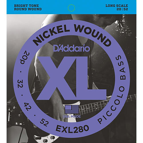 D'Addario EXL280 XL Piccolo Bass Regular/Long String Set