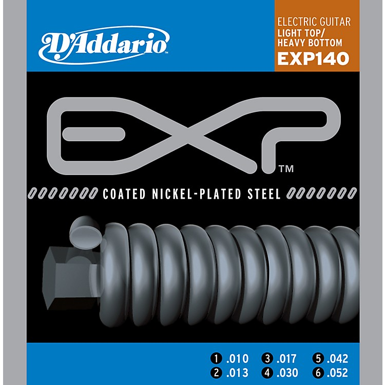 D'Addario EXP140 Coated Electric Light Top/Heavy Bottom Guitar Strings