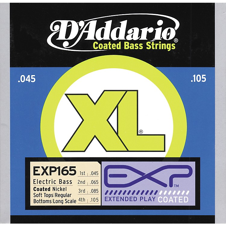 D'Addario EXP165 Coated Soft Top/Regular Bottom Bass Strings
