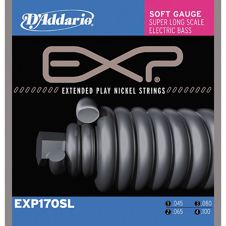D'Addario EXP170SL Coated Soft Super Long Scale Bass Strings