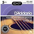 D'Addario EXP26-3D 3-Pack Coated Phosphor Bronze Custom Light Acoustic Guitar Strings thumbnail