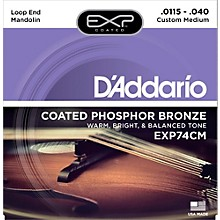 D'Addario EXP74CM Coated Phosphor Bronze Custom Medium Mandolin Strings (11.5-40)