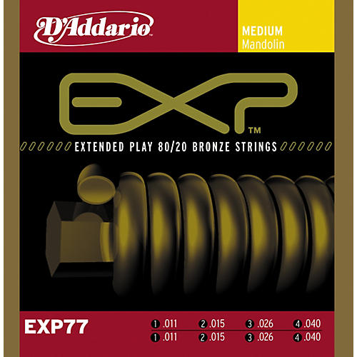 D'Addario EXP77 Coated Mandolin Strings Medium-thumbnail