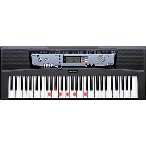 Yamaha EZ 200 AD Portable Keyboards with Lights and Adapter-thumbnail